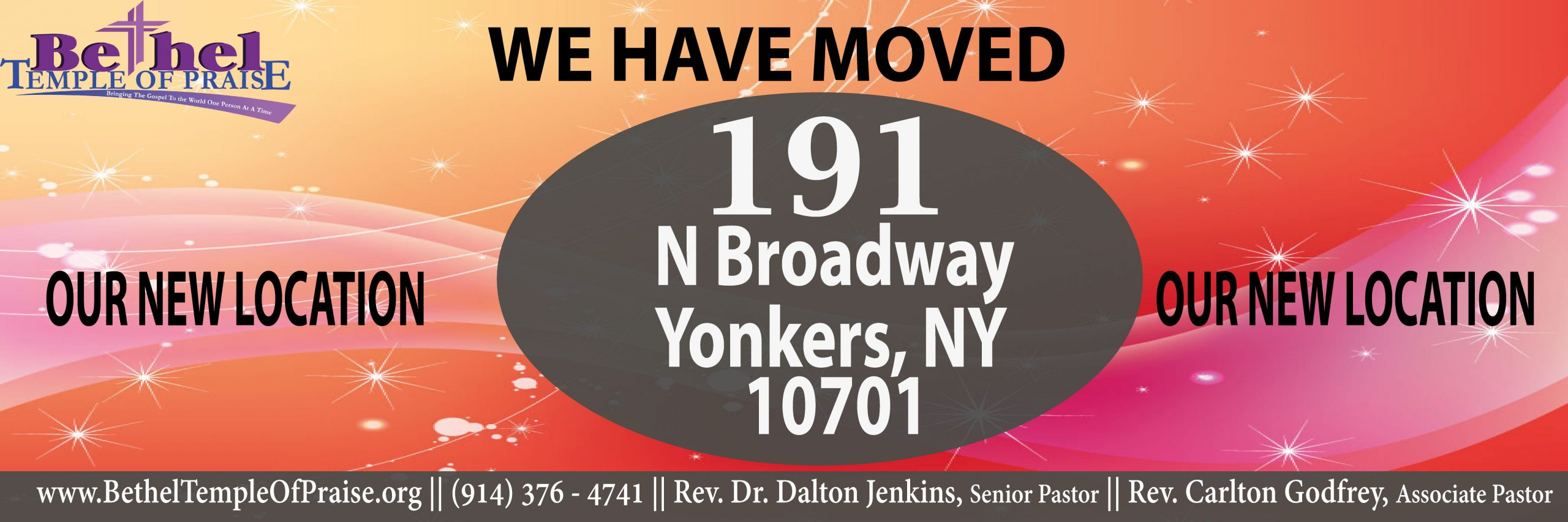 We have Moved: 191 North Broadway, Yonkers NY 10701
