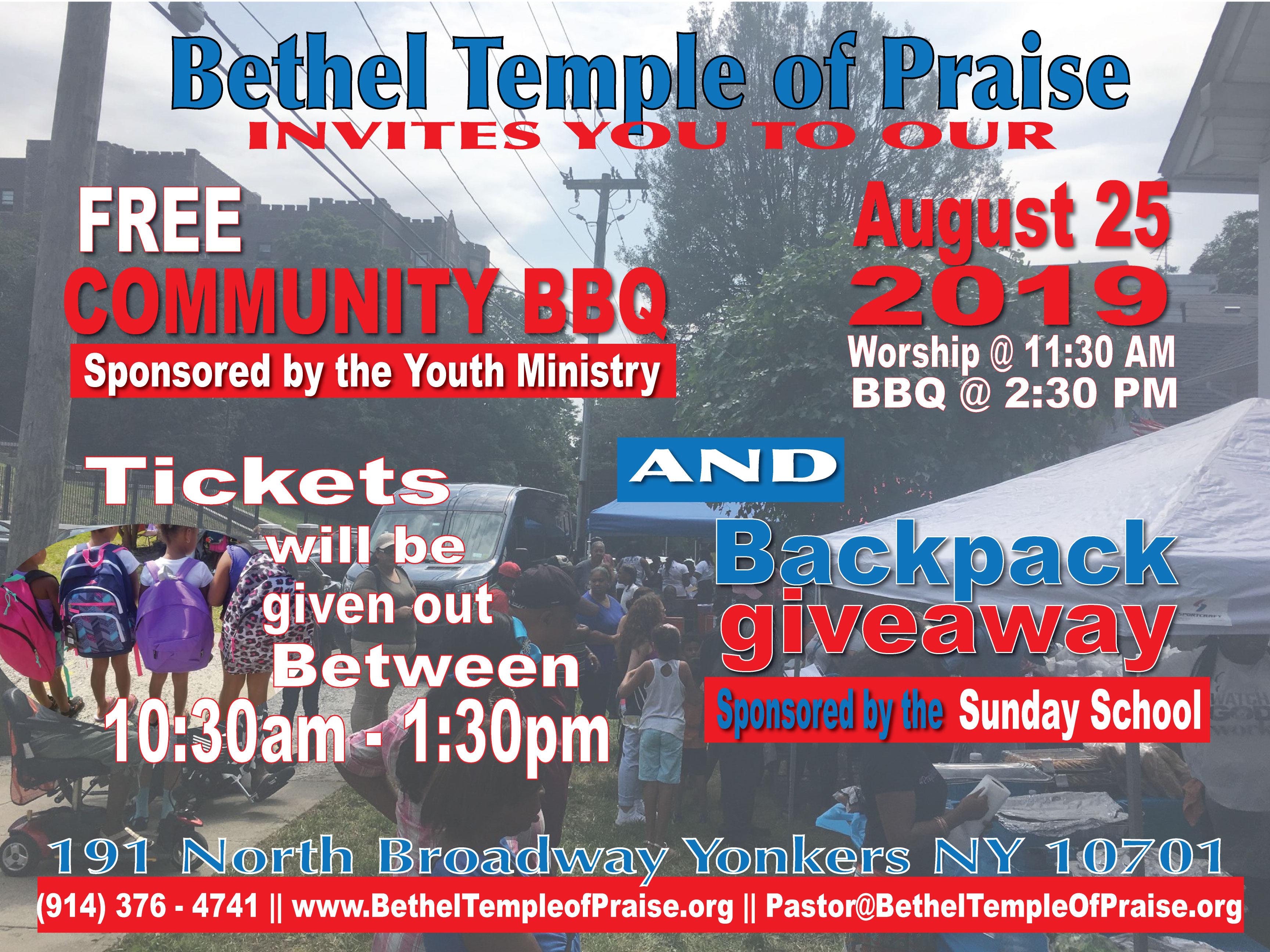 Annual Summer Community Outreach